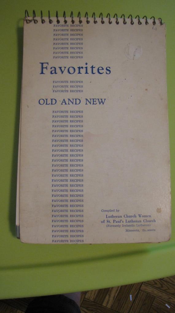 1965 Cookbook Minneota MN Lutheran Church Women St. Paul's Lutheran Church