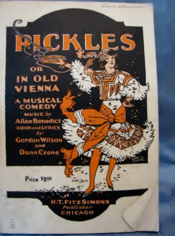 Musical Cast Book Pickles In Old Vienna Operetta Benedict Wilson Crane