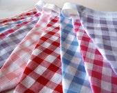Gorgeous colourful bunting, GINGHAM PALETTE in warm colours, approx 2m80 long, perfect for Parties, Weddings, Bedrooms, Presents
