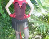 Vintage Leos DEVIL One piece Burlesque Dance Costume by KitKatCabaret on Etsy