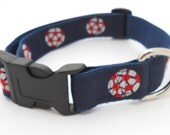 Soccer Ball Adjustable Dog Collar in Sizes XSmall, Small, Medium, Large, and Martingale