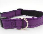 Ruffle Dog Collar 5/8 inch wide Purple
