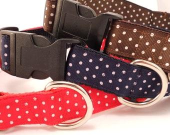 Swiss Dots Dog Collar