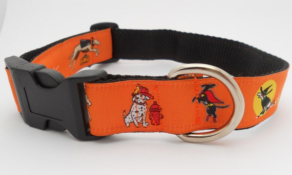 Halloween Adjustable Dog Collar - Dogs Dressed in Halloween Costume