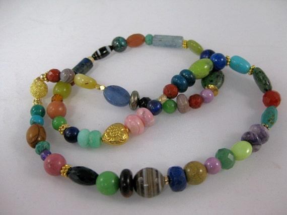Multigem fiesta necklace: charity donation