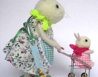 Spring Mom Bunny with her baby