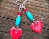 Bright Valentine Earrings colorful handmade jewelry gift