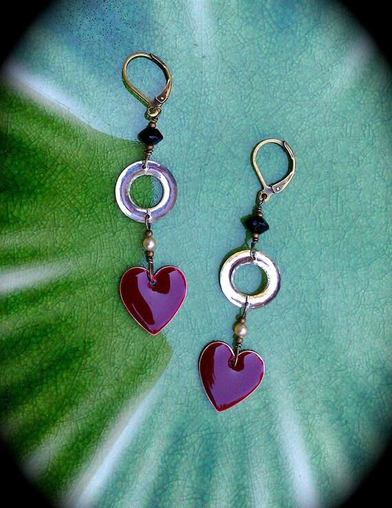 Red Valentine Heart Earrings
