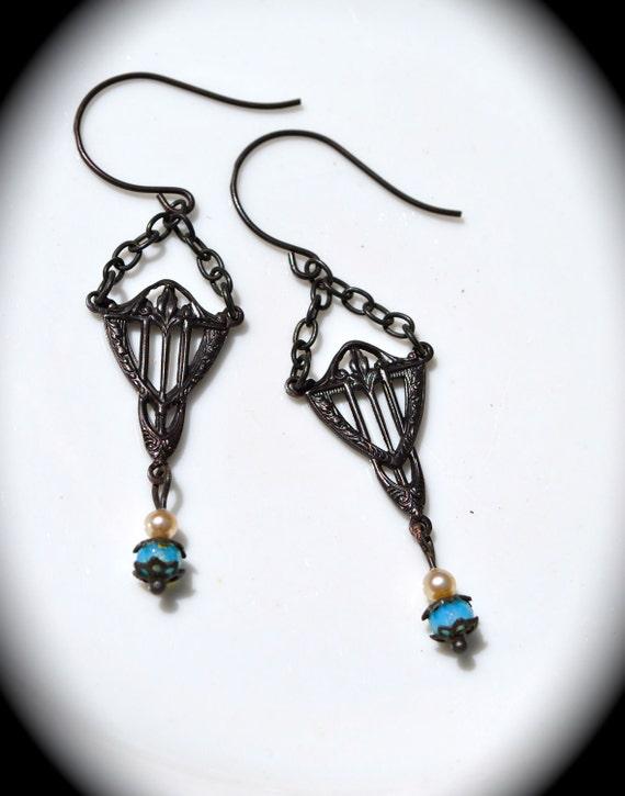Art Deco Earrings handmade bridal jewelry