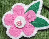 Springtime pink flower pin