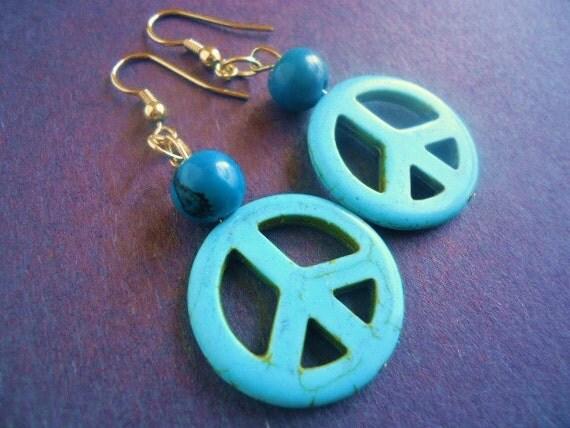 Gemstone Peace sings earrings