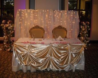 elegant head table skirt head table table clothe satin table skirt