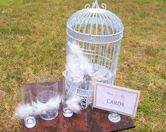 Bling Feather Set....... Unity Sand Set and Card Holder