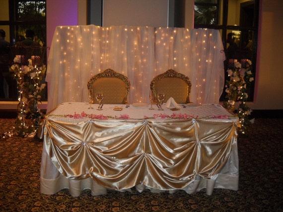 Elegant Head Table Skirt Head Table Table Clothe Satin