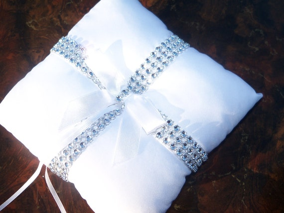 Bling Ring Pillow, Ring Bearer Pillow, Wedding Pillow, Ring Holder