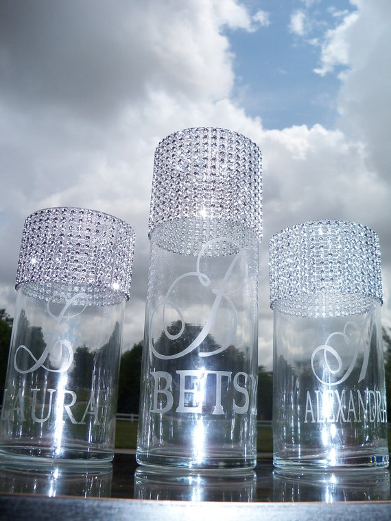 Personalized Bridal/Bridesmaids Bouquet Holders.........set of 6, Bouquet Vase, Bridal Bouquet, Bridesmaids Bouquet, Bouquet Holder, Vase