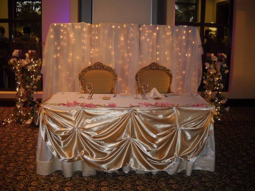 Elegant Head Table Skirt Head Table Table Clothe Satin