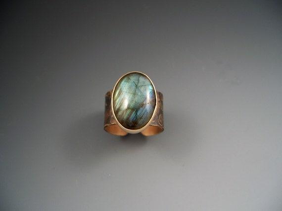 Labradorite Smokey Bronze Ring