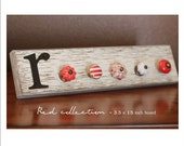 Jewelry Rack -  Shabby Chic Style - RED color collection