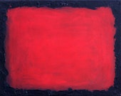 "abstract painting vALENTINE color block original painting rothko inspired ""Fringe"""