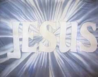 Jesus - Light of the World Hand Painted Silk Worship Flag For Praise Worship or Dance
