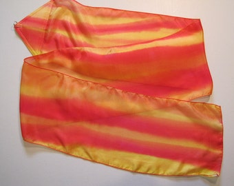 Fire Silk Hand Painted Silk Hand Dyed Silk Streamer Flag WITH Rod For Praise Worship or Dance
