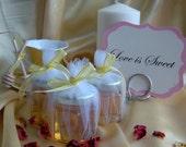 Bridal Shower Honey Favors, Raw Honey, Hex Jars 14