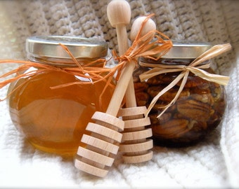 Gourmet Gift Set, Raw Honey & Pecans, Father's Day Gift From Son or Daughter, Christmas Gift Ideas
