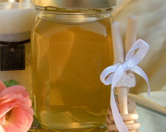 Edible Gifts, Raw Natural Honey, Victorian Square Jar 1lb 2oz