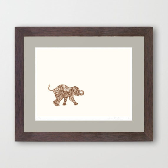 Baby on the Move - Patterned Elephant