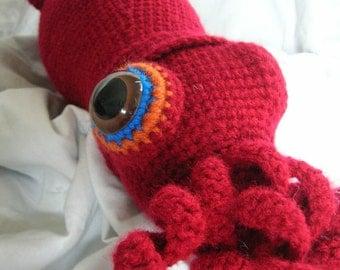 Seymour the Squid - Amigurumi Plush Crochet PATTERN ONLY (PDF)