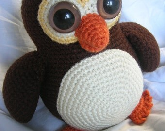 Ollie the Owl - Amigurumi Plush Crochet PATTERN ONLY (PDF)