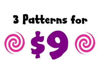 3 for 9 Pattern Bundle - Amigurumi Plush Crochet PATTERNS ONLY (PDF)