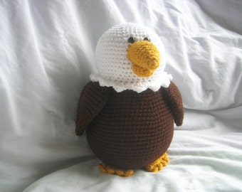 Bailey the Bald Eagle - Amigurumi Plush Crochet PATTERN ONLY (PDF)