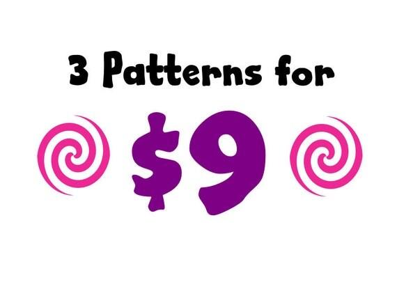 3 for 9 Pattern Bundle - Amigurumi Plush Crochet PATTERNS ONLY (PDF)