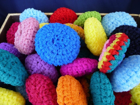 Pot Scrubber (Scrubbies) Variety of Colors Set of Three