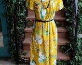 The Lansbury: Vintage 1960s Aloha MAXI MuuMuu (Free Waist)
