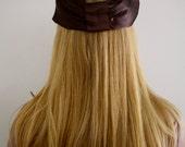 The Anastasia- Vintage 1940s Chocolate Mink Silk BOW Hat