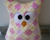 Fancy Stuffed Owl -SALE-