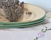 swedish vintage enamelware plates, set of four