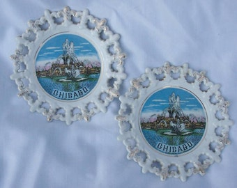 Set of 2 Chicago Collector Plates