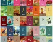 Little Fry Animal A-Z poster, A1 size