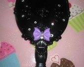 Swarovskii Crystal Purple Bow Handheld Mirror Make Up Pin Up Hair Stylist Scissors By Pink Sugar Crystals