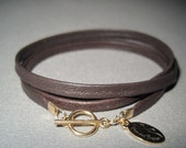 Lucy Leather Wrap Bracelet in Dark Chocolate Brown