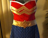 Wonder Woman apron - Featured on Geeks are Sexy, Fahionably Geek, and So Geek Chic