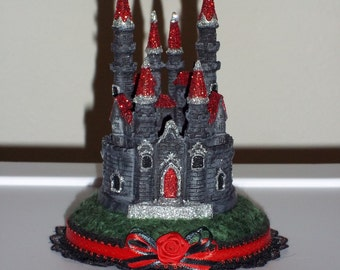 Custom Gothic Castle Wedding Cake Topper