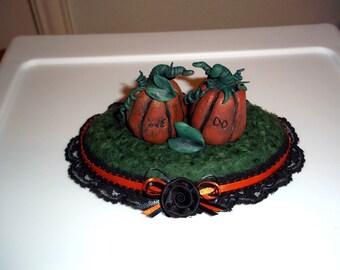 Custom Pumpkin Wedding Cake Topper
