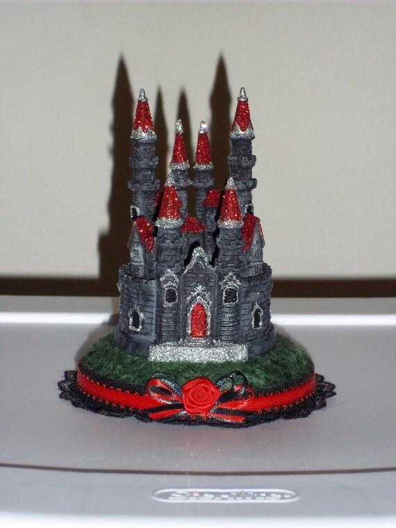 Cake Toppers Etsy Uk : Items similar to Custom Gothic Castle Wedding Cake Topper ...