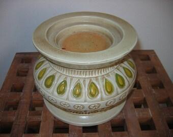 70's Vintage Ceramic Candle holder. Mod, Danish Modern. Eames Panton era. Mid century.