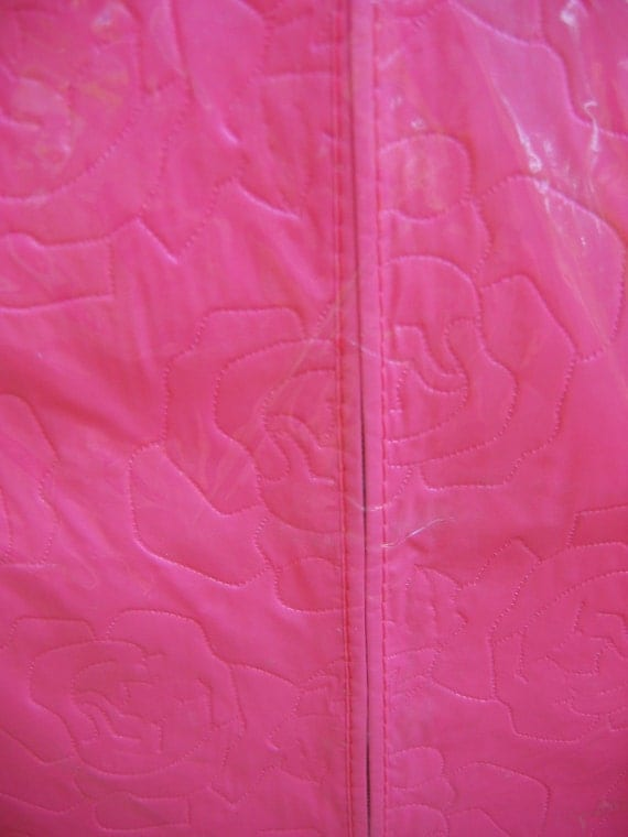 Hot Pink Garment Bag.  New old stock in package.   Vintage 1960.  Mid century modern, Danish Modern, Eames era. Deco.